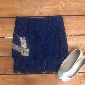 Lulu's Blue Lace Skirt